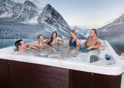Friends chatting in the hot tub